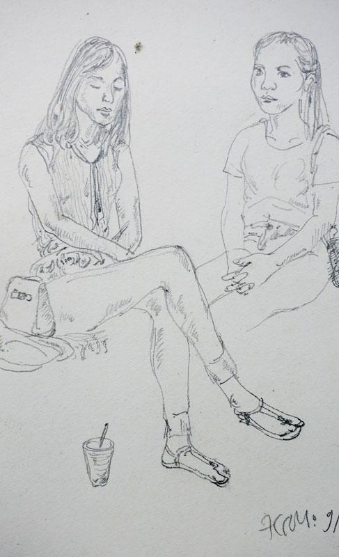 Ký họa sinh viên, 23 x 37